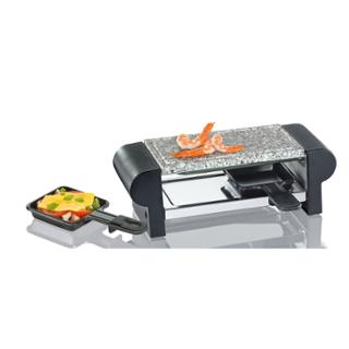 Raclette Hot Stone Duo, schwarz